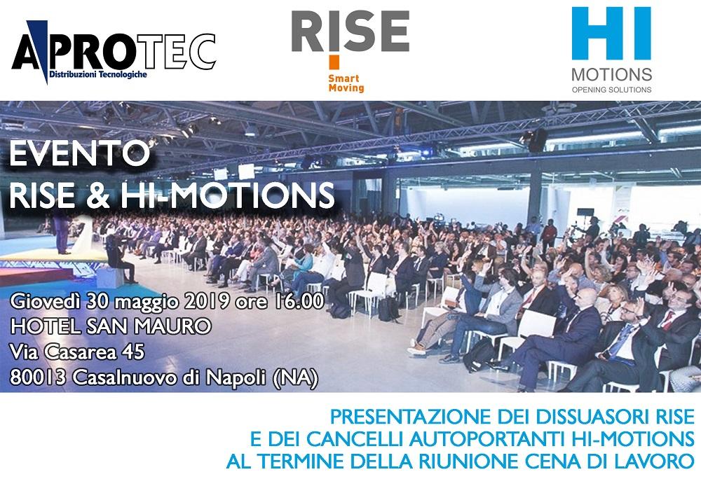 EVENTO DI PRESENTAZIONE PRODOTTI RISE & HI-MOTIONS